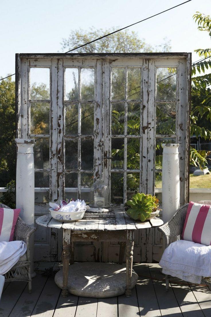 Alte Fenster Im Garten Dekorieren Inspirierend 50 Garten Deko Ideen Wie Alte Türen Und Fenster