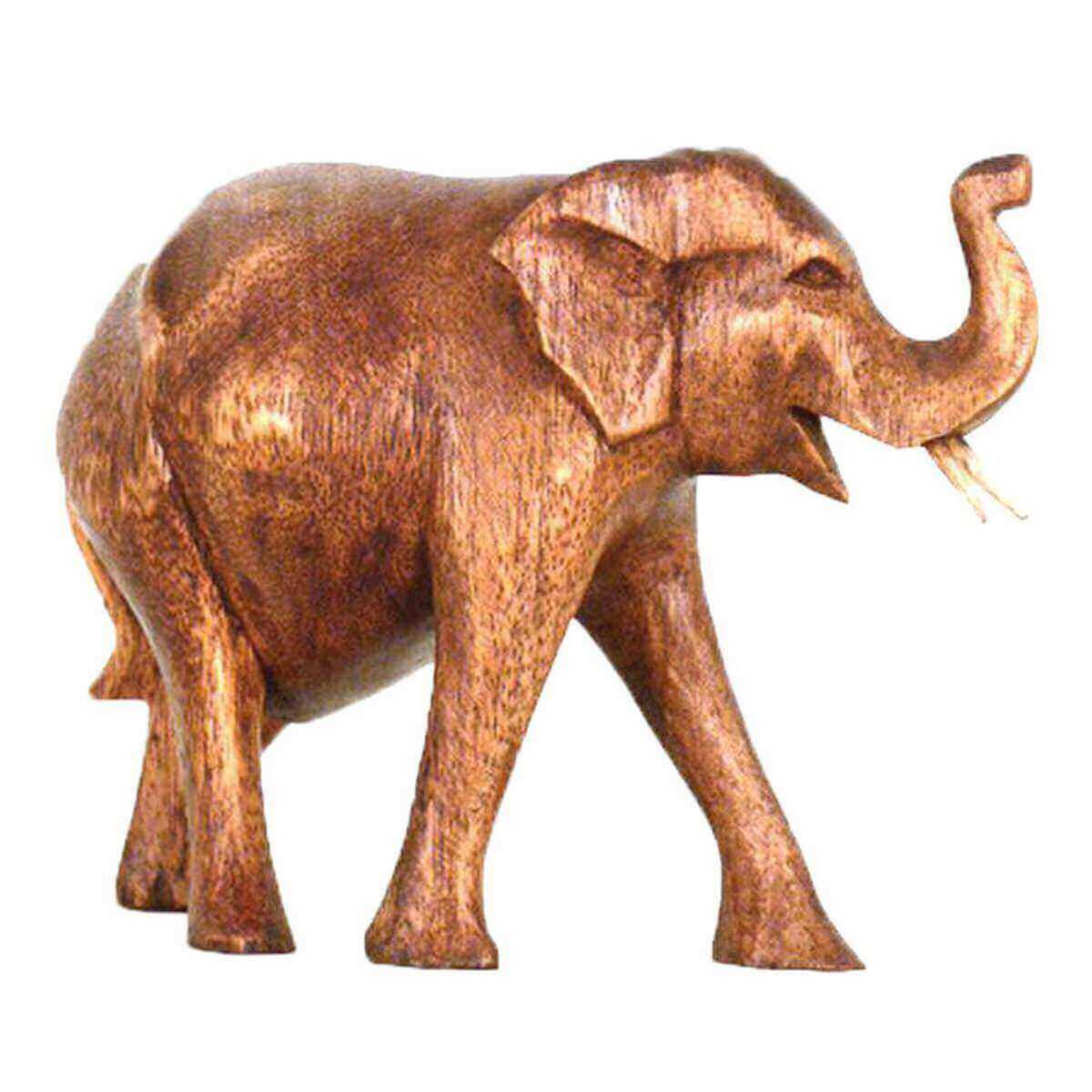 Alte Holzbretter Dekorieren Elegant Elefant Holz Figur Skulptur Abstrakt Holzfigur Statue Afrika asia Glücksbringer Handarbeit Deko