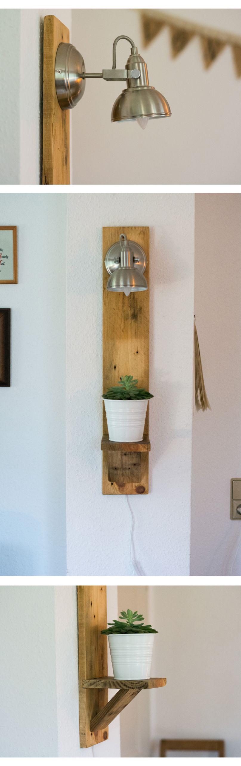Alte Holzbretter Dekorieren Frisch Diy Wandlampe Aus Altem Paletten Brett