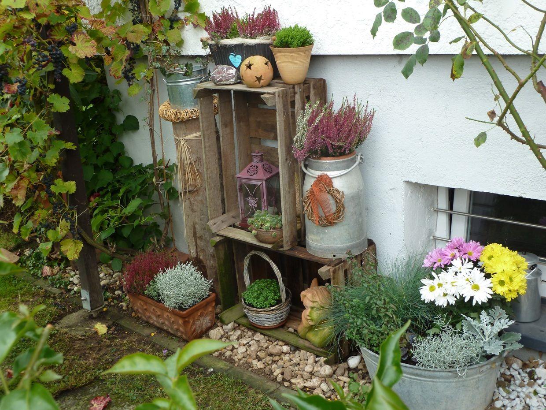 Alte Holzleiter Im Garten Dekorieren Elegant Herbstdeko Im Garten Bilder Und Fotos