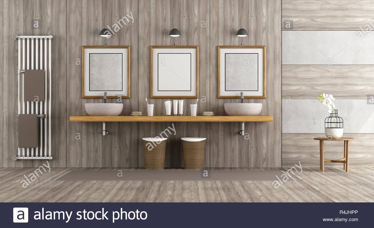 minimalistische badezimmer holz und beton r4jhpp