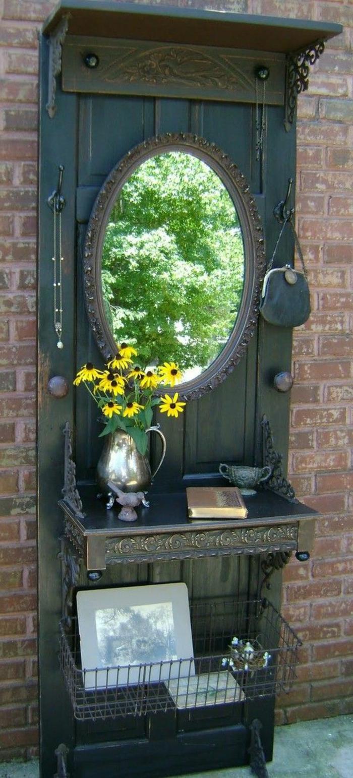 Alte t C3 BCr deko in dem garten antiker spiegel vase mit gelben blumen