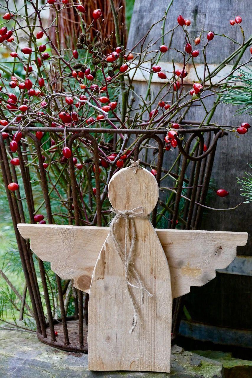 Altes Holz Deko Inspirierend Rustikaler Palettenholz Engel