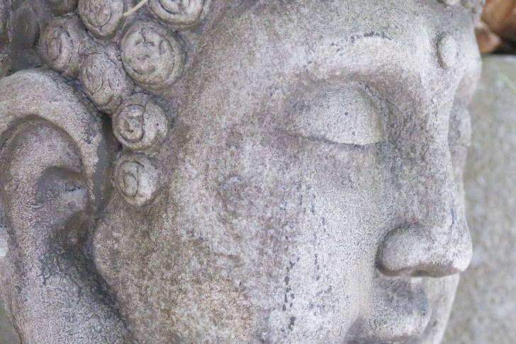 Antike Gartendeko Frisch Buddhakopf H55cm sommerlaune