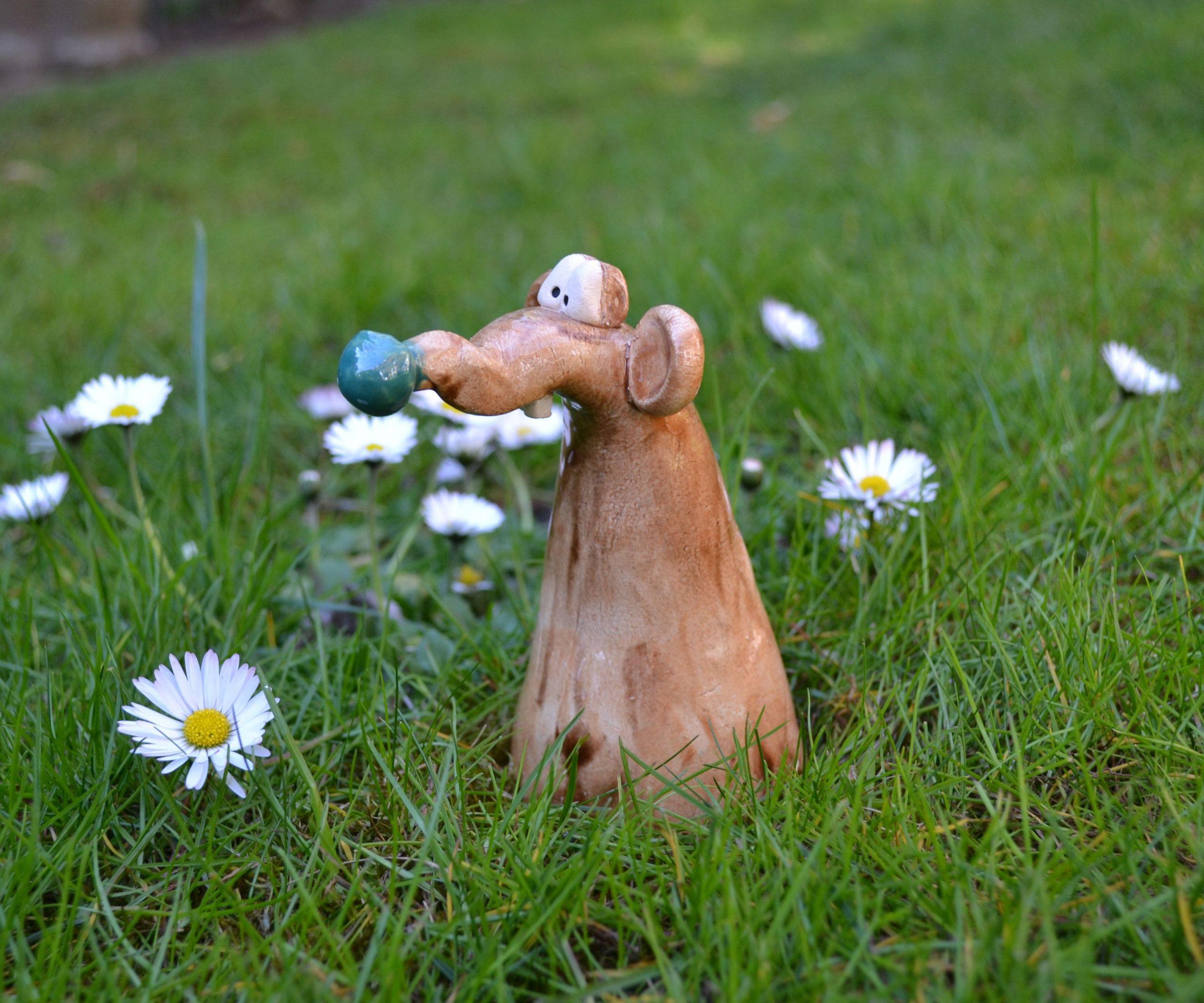 Asiatische Gartendeko Einzigartig Keramik Gartendeko Süße Maus Max