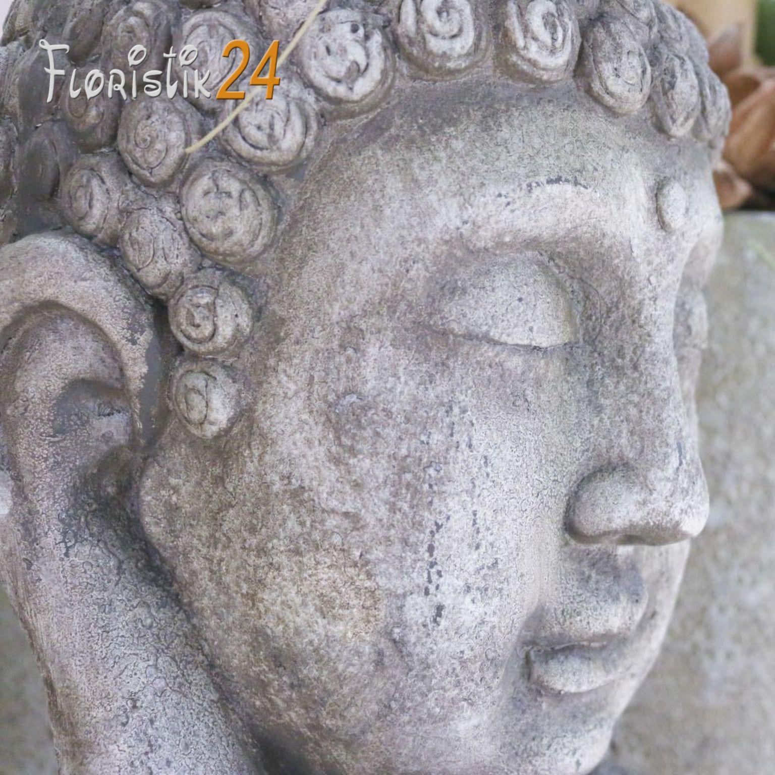 Asiatische Gartendeko Genial Buddhakopf H55cm sommerlaune