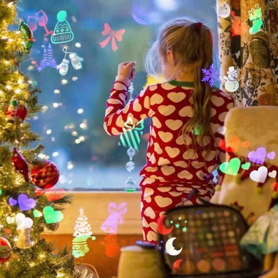 Weihnachten Dekoration Bühne Licht Urlaub Partei Geburtstag 7 Arten Laser Schneeflocke Projektor Outdoor LED projektion licht