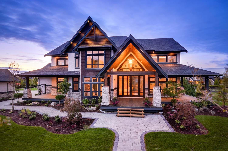 Aussen Hauswand Deko Elegant Das Zuhause Im übergangs Stil In British Columbia Zeigt