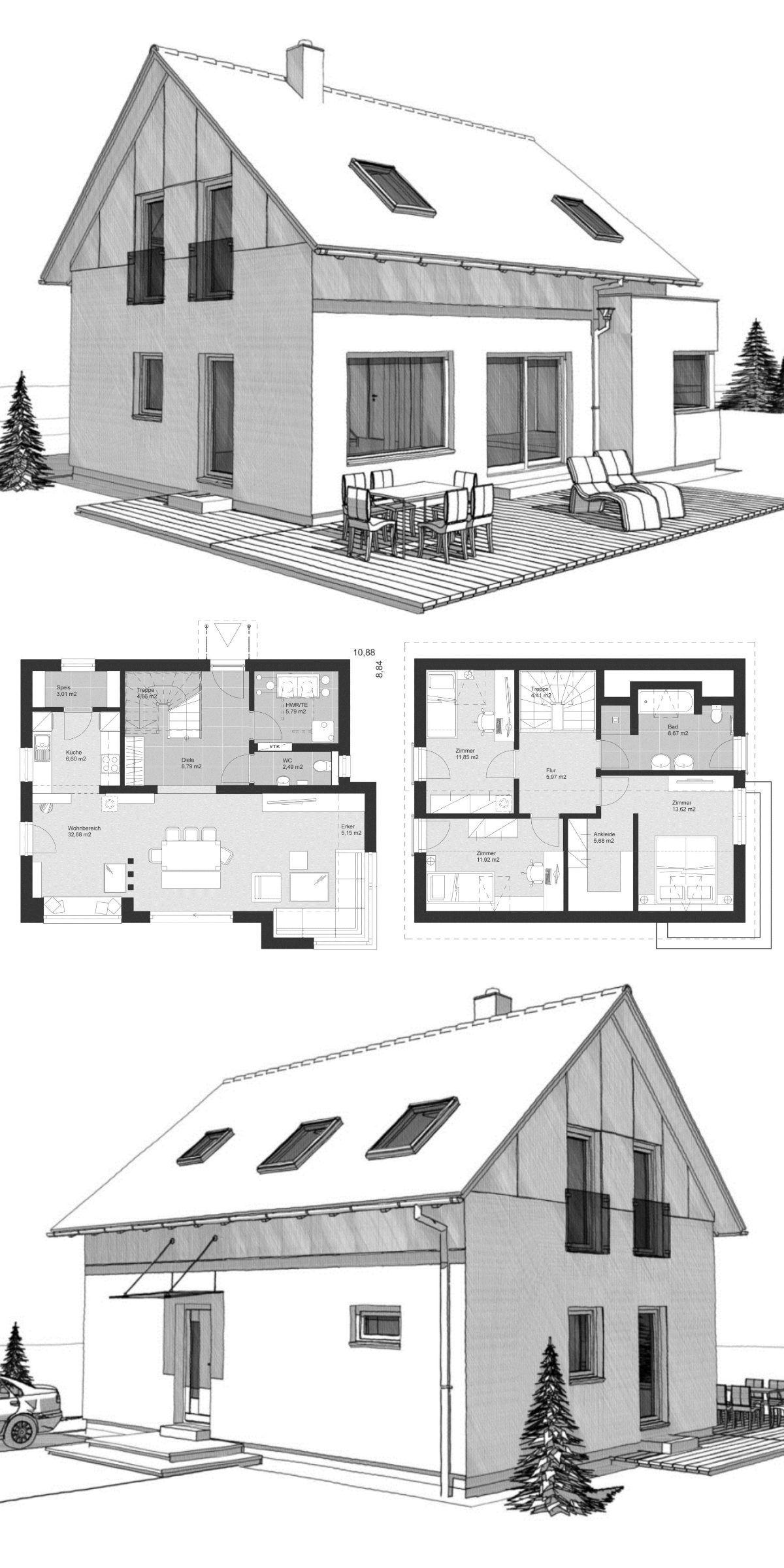 Aussen Hauswand Deko Luxus Klassisches Einfamilienhaus Neubau Mit Satteldach