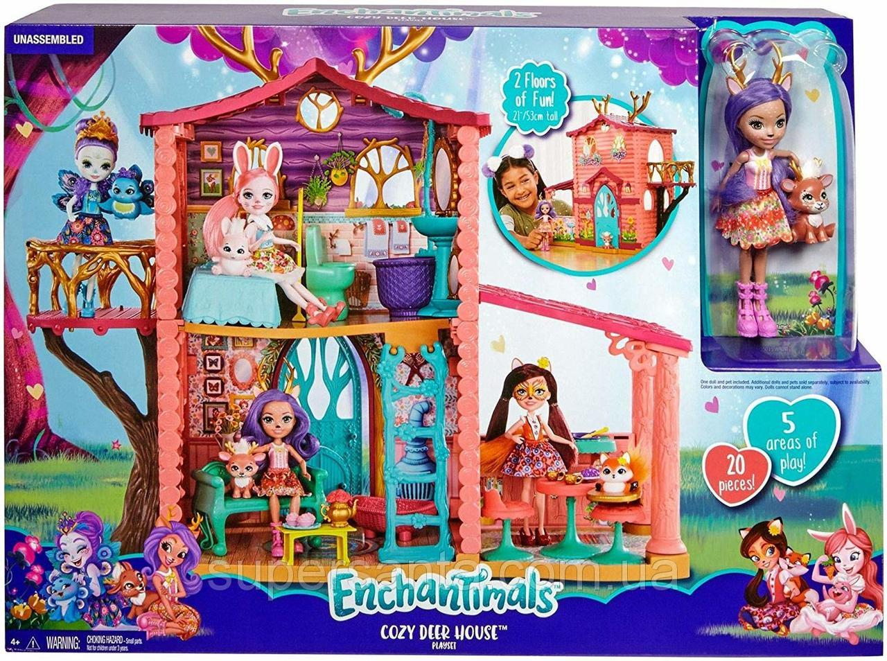 Balkon Dekoration Neu Игровой набор ЭнчантимаРс Домик Enchantimals Cosy House Playset with Danessa Deer Doll and Sprint Figure Mattel Bigl