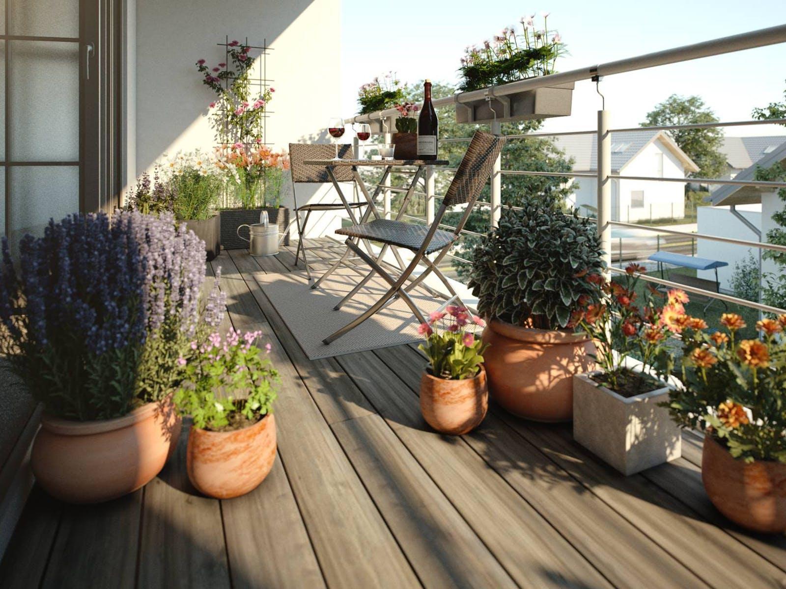 balkongestaltung stil mediterran