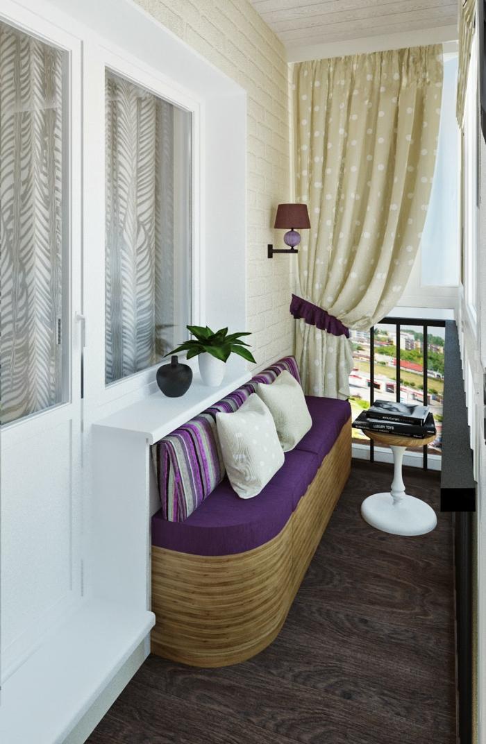 balkongestaltung deko balkon