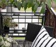 Balkongestaltung Einzigartig Schwarz Weiß Und Frischen Pflanzen Und Blumengefäßen Am