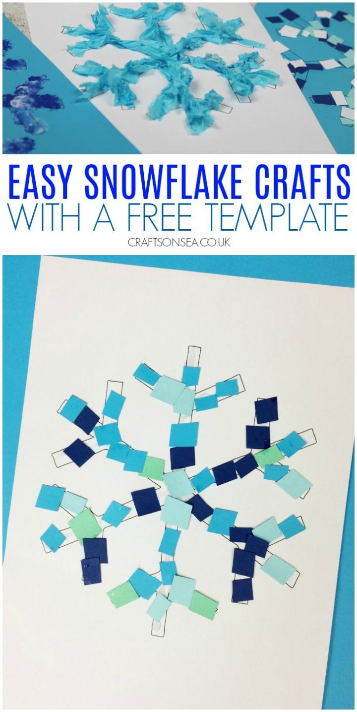Bastelideen Luxus 4 Easy Snowflake Crafts for Kids