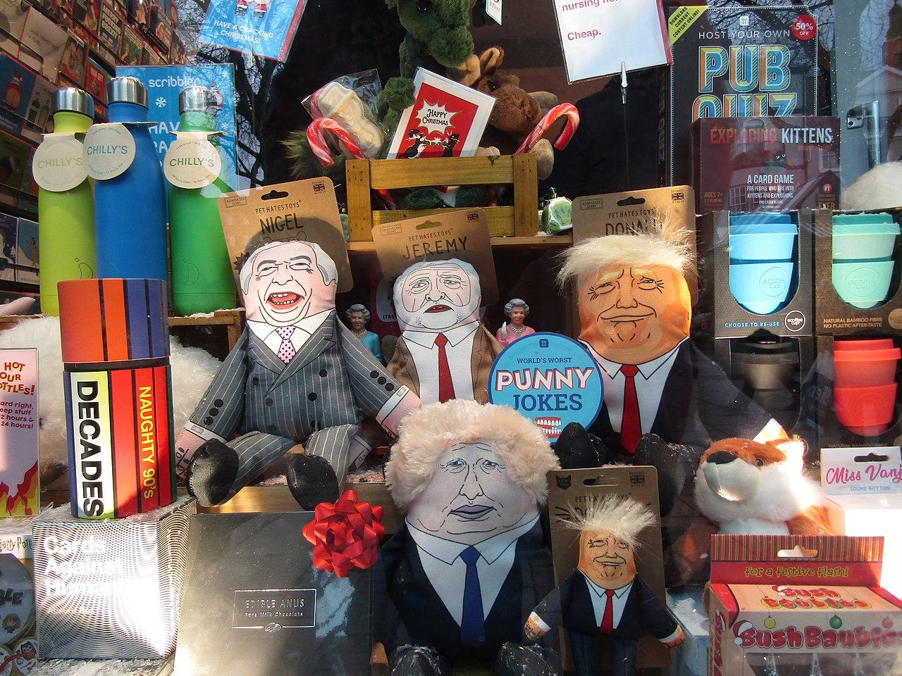 1280px 2019 12 18 Politician pet hate dolls Scribbler Cards The Royal Arcade Norwich JPG
