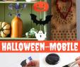 Basteln Halloween Deko Frisch Halloween Mobile Basteln Halloween Diy