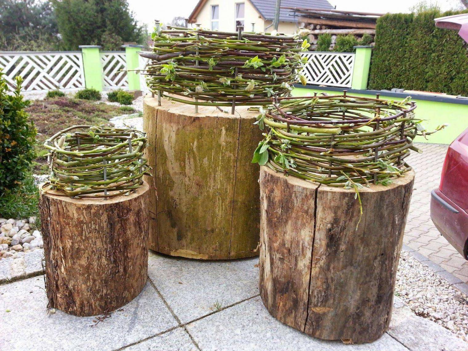 Baumstamm Deko Garten Schön Garderobenständer Holz Selber Bauen — Temobardz Home Blog