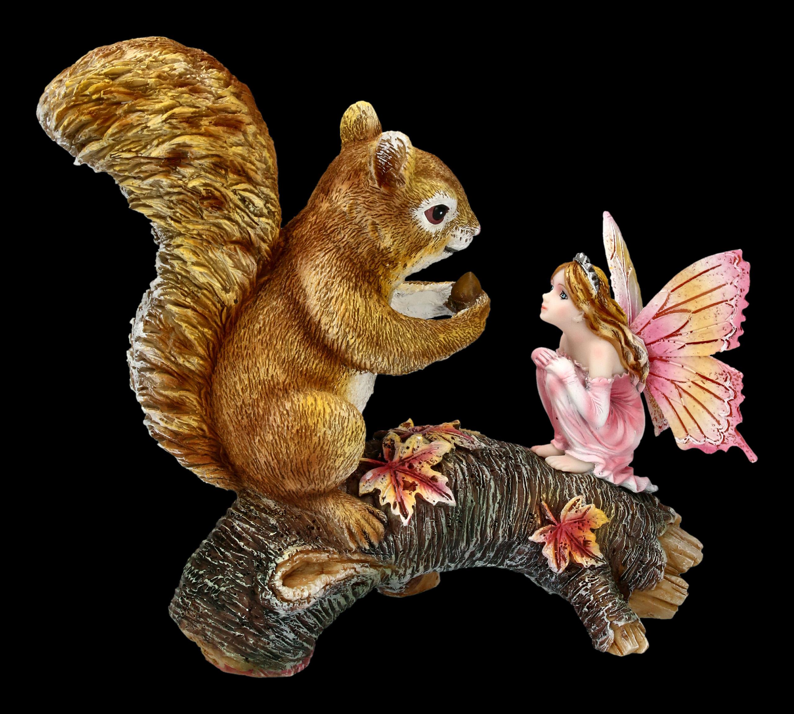 Baumstumpf Dekorieren Frisch Waldfee Figur Animalia Mit Eichhörnchen