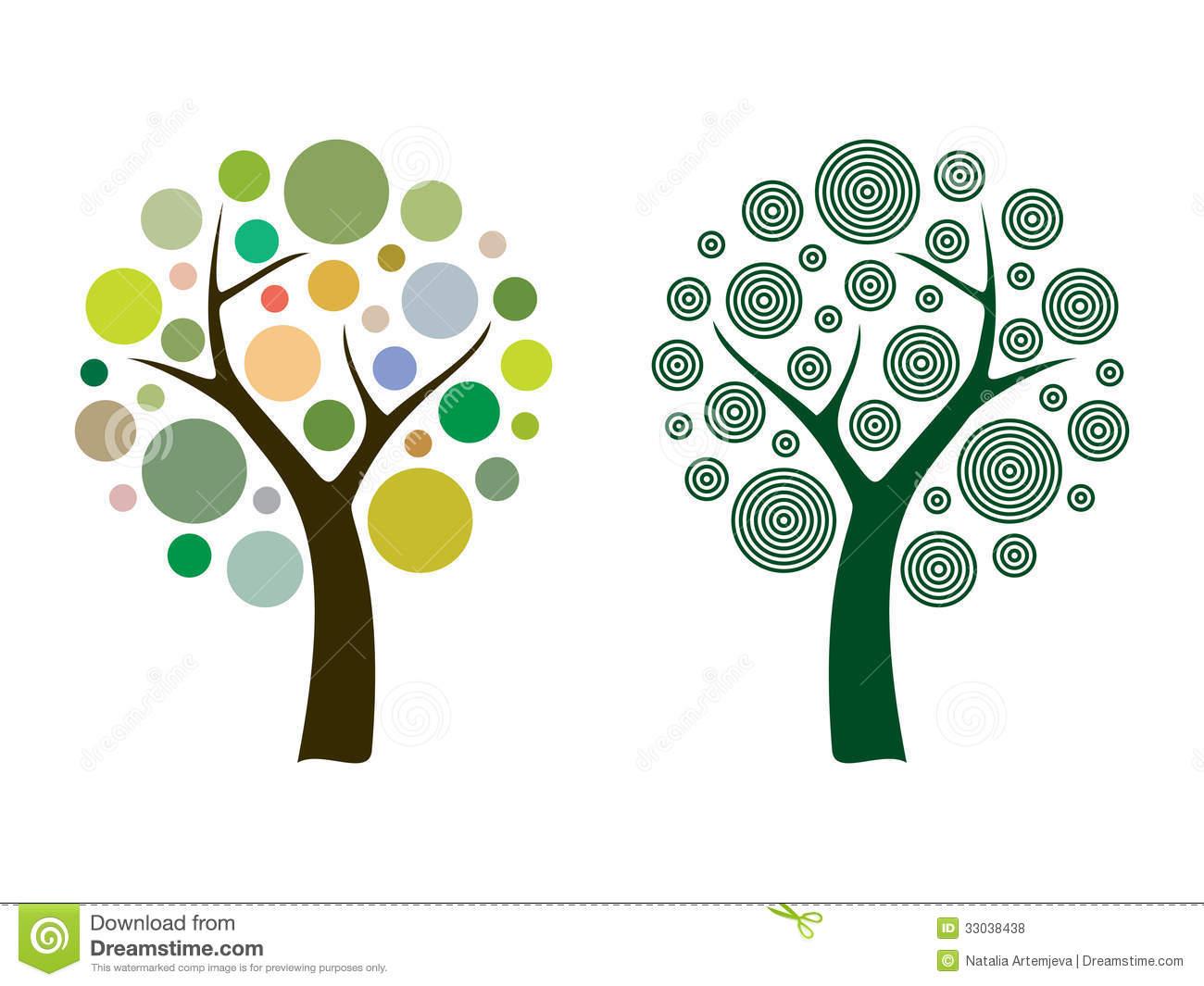 Baumwurzel Deko Elegant Vektorbaum Vektor Abbildung Illustration Von Dekorativ
