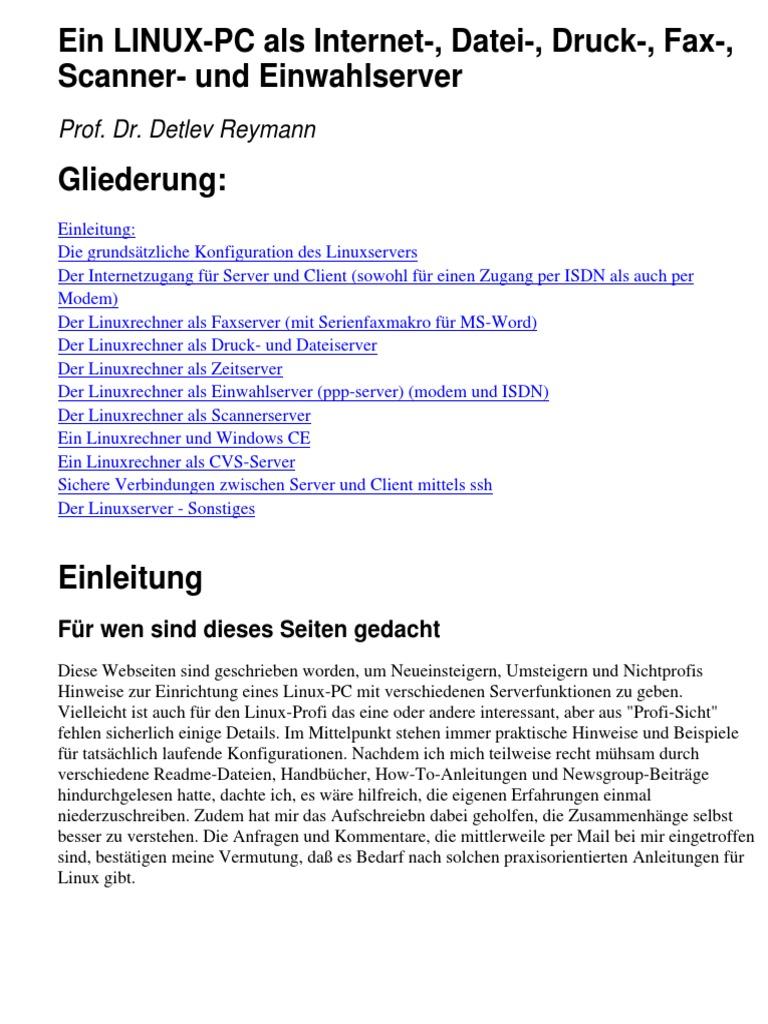 Benutzername Ideen Schön Ebook German Ein Linux Pc Als Internet Datei Druck