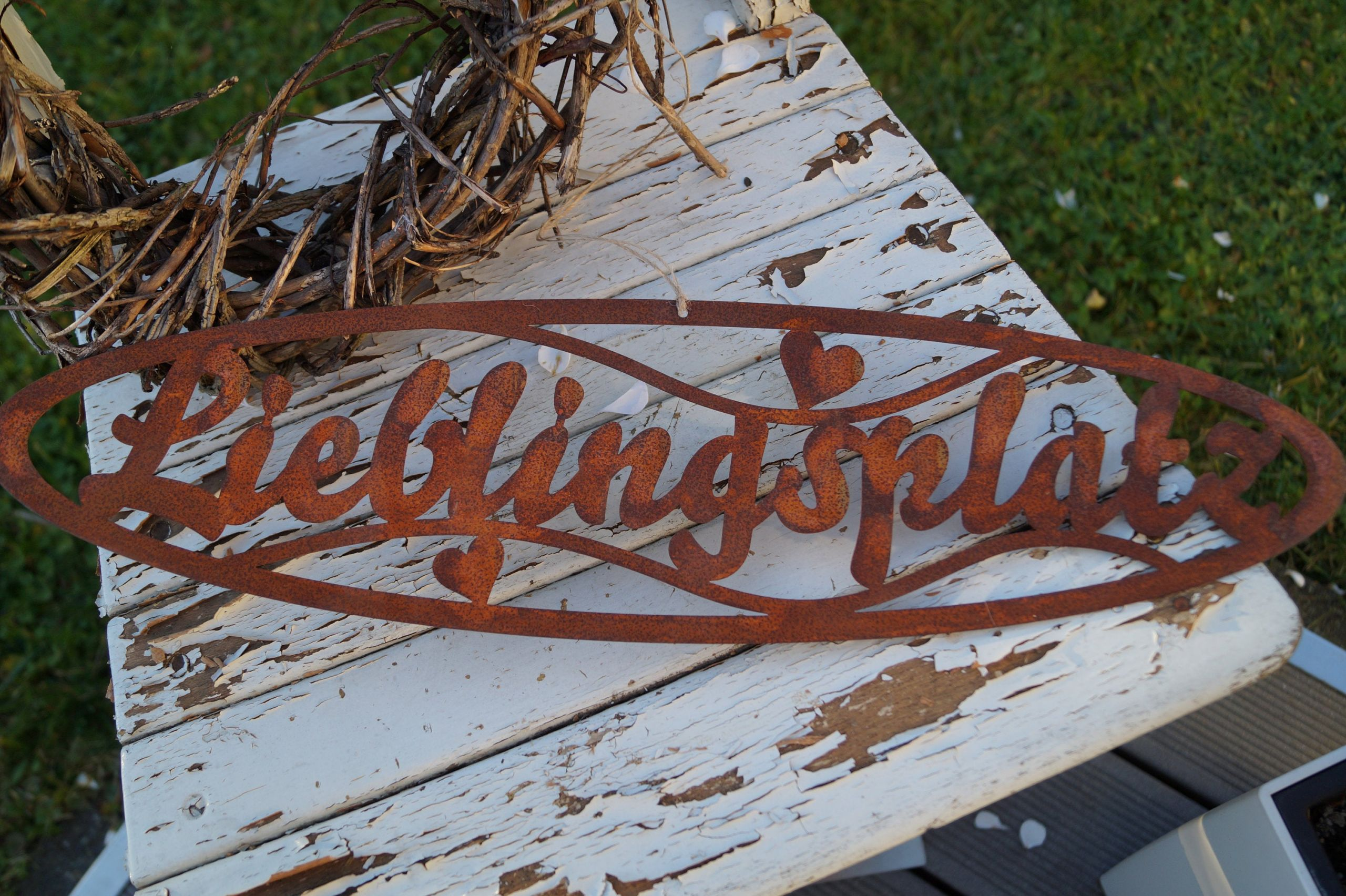 Besondere Gartendeko Einzigartig Lieblingsplatz Schild Aus Edelrost Schriftzug Gartendeko Dekoration Für Zu Hause Terrasse Rostig