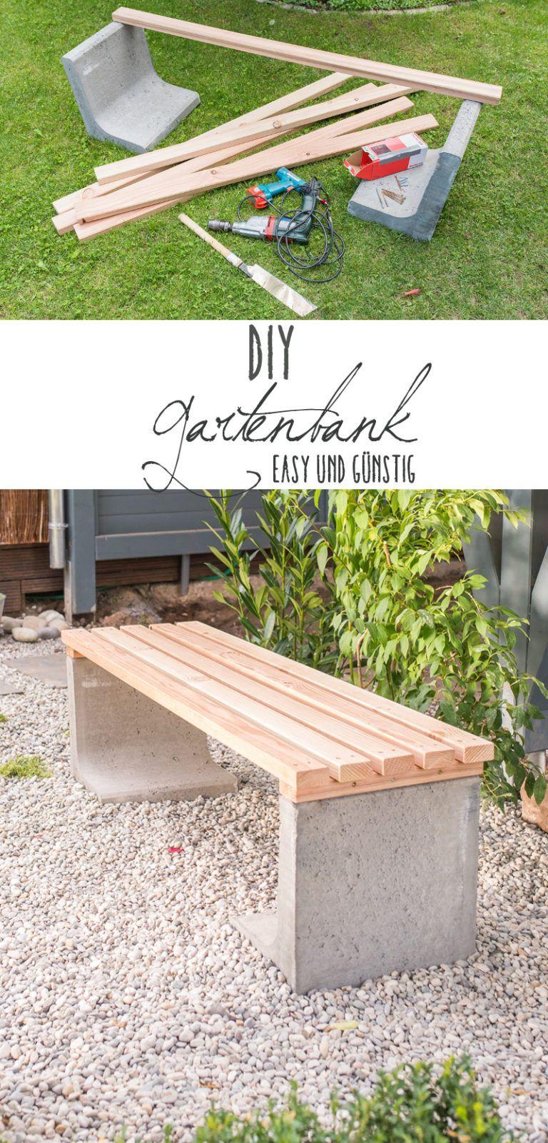 Beton Deko Garten Inspirierend Diy Gartenbank Mit Beton Und Holz