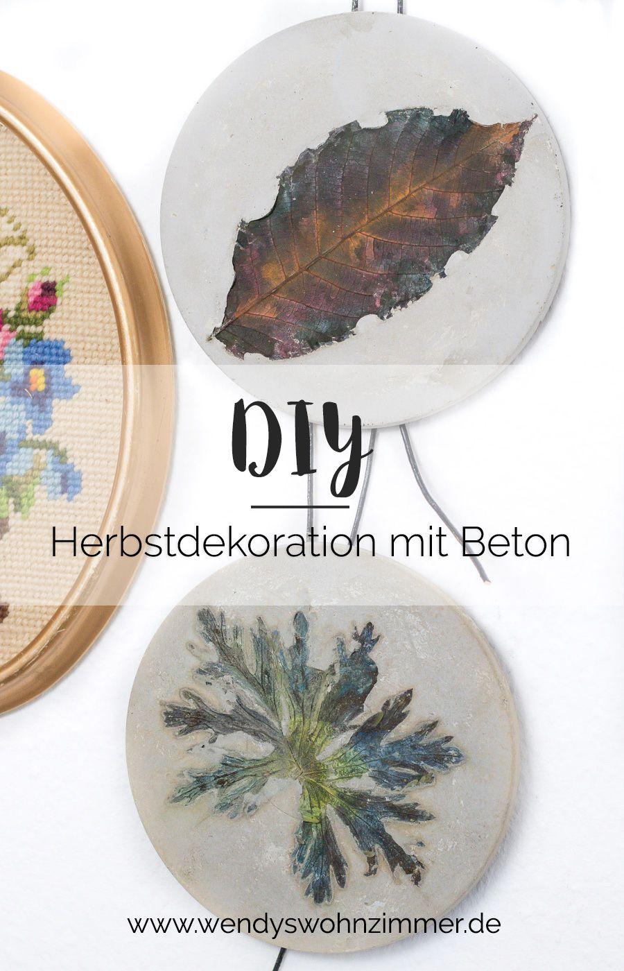 Beton Deko Garten Selber Machen Elegant Diy Idee Mit Beton Herbstdeko Mit Blättern Selber Machen