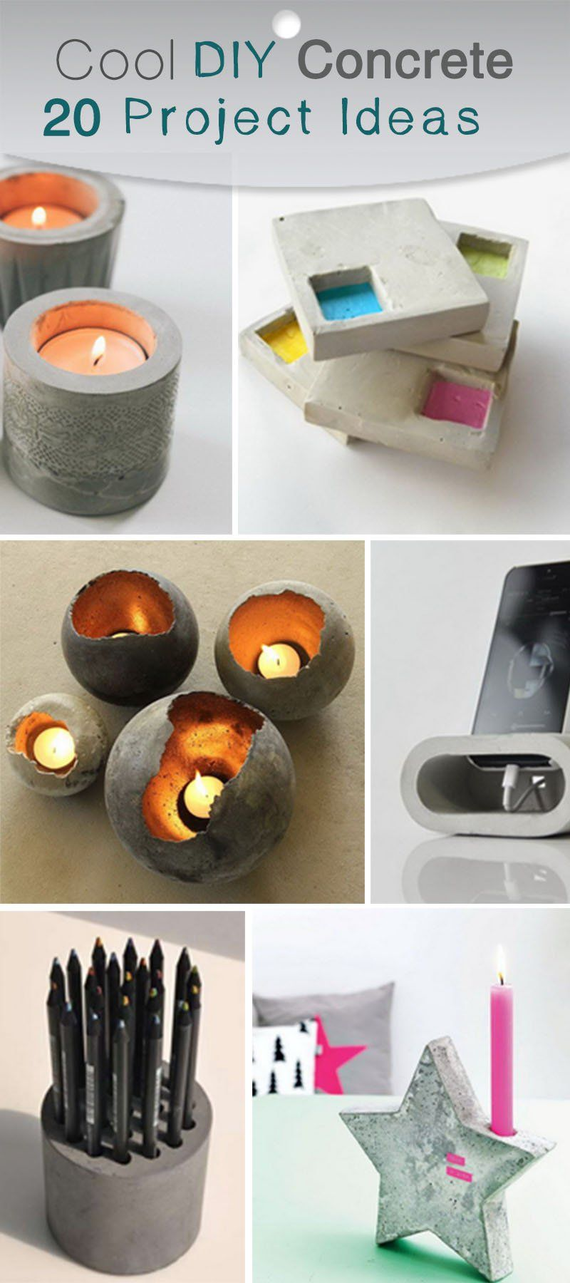 Beton Diy Schön Cool Diy Concrete Project Ideas муррр