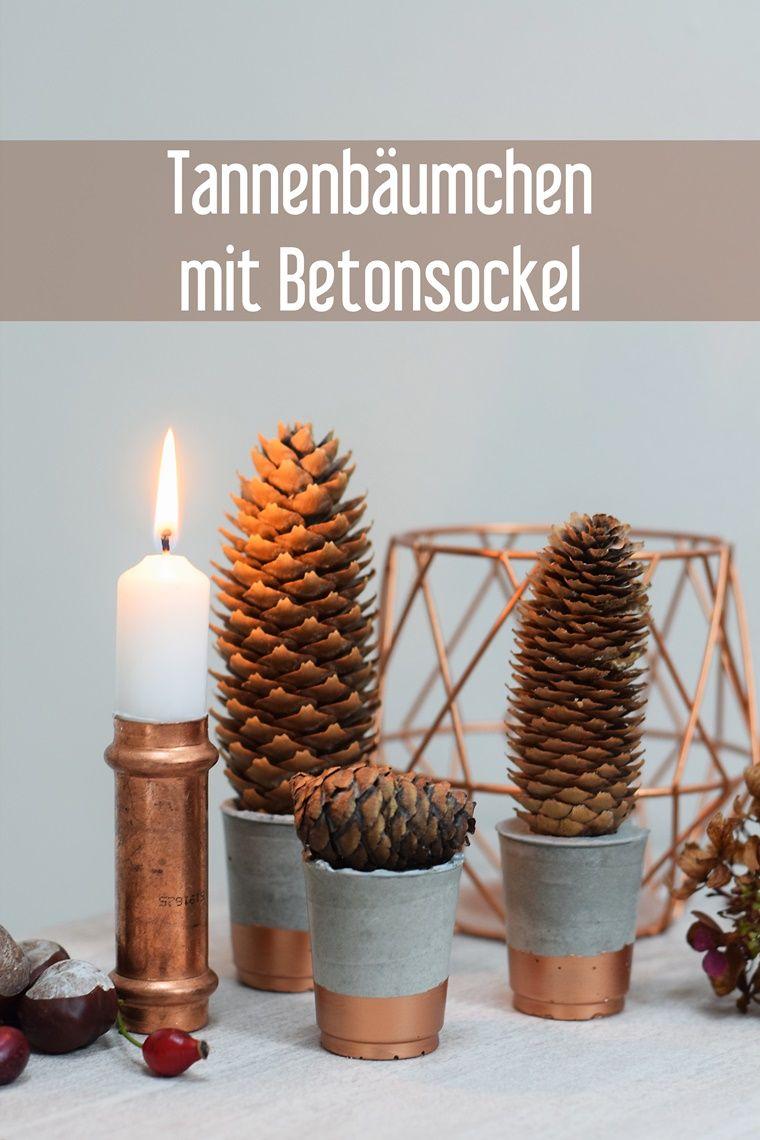 Beton Gartendeko Neu Diy Beton Tannenbäumchen Weihnachten Herbst Deko