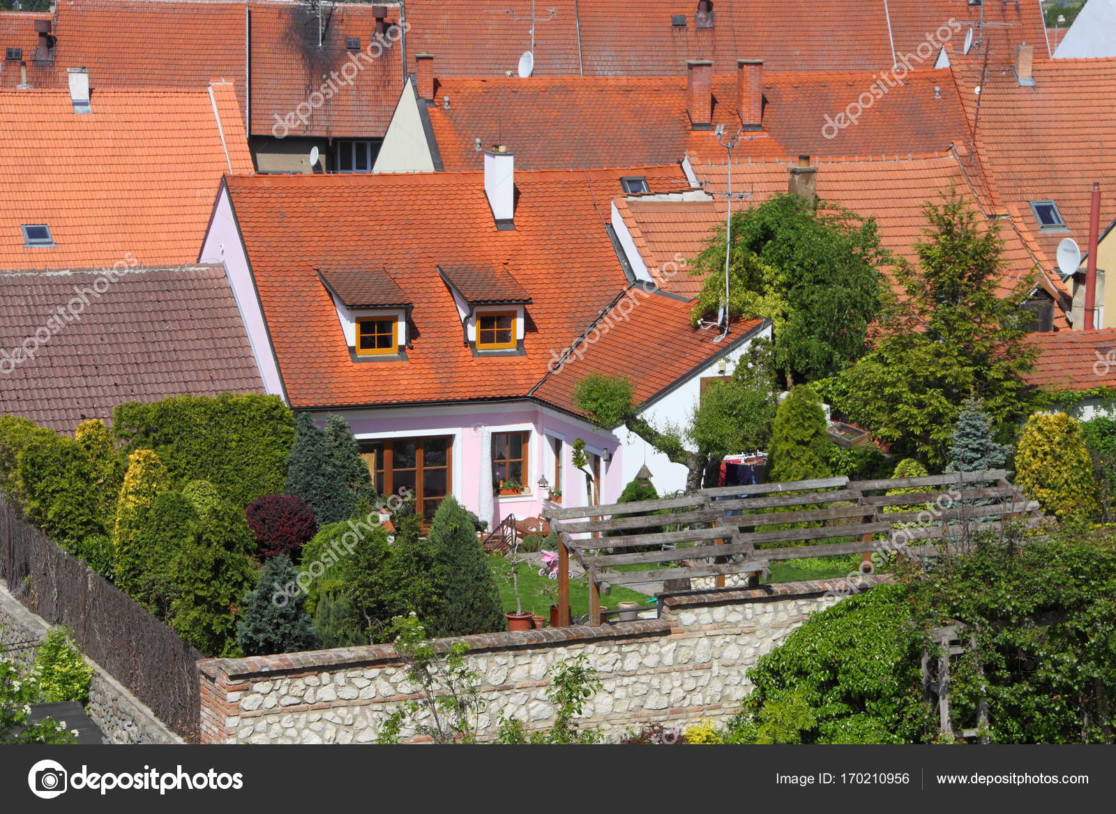 depositphotos stock photo detail od small red roofed