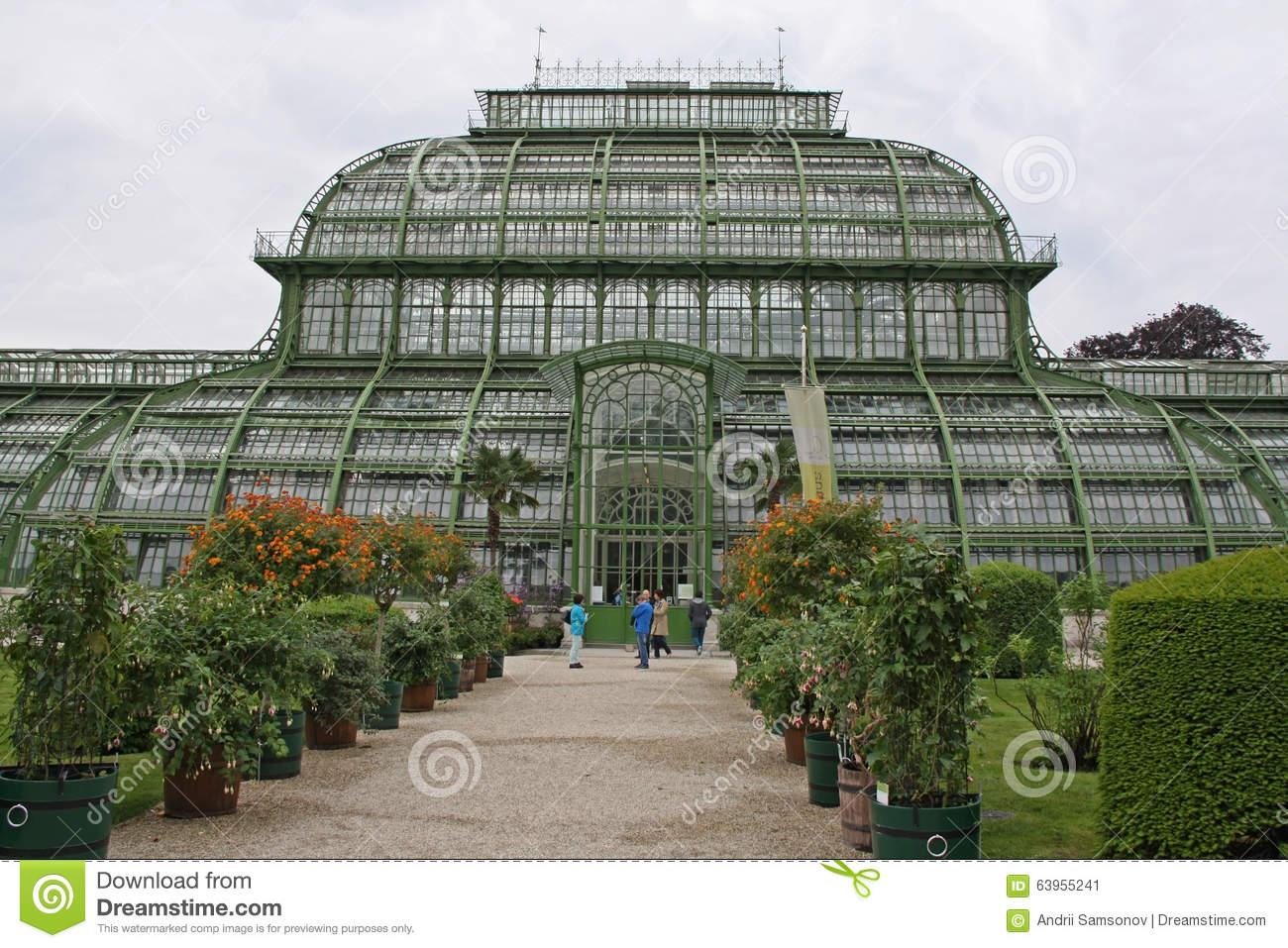 ботанический са око о ворца schonbrunn в вене