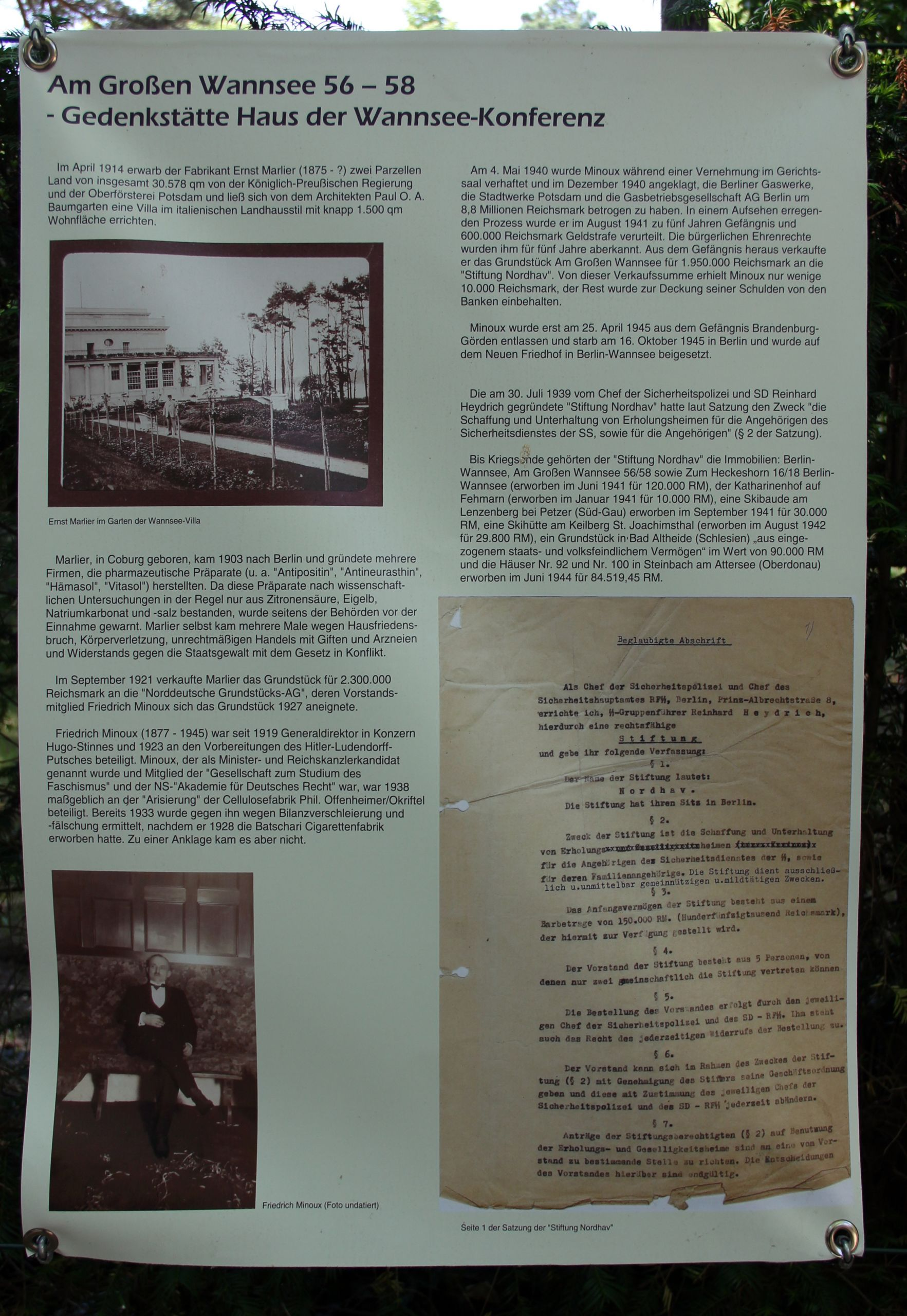 Gedenktafel Am Großen Wannsee 58 Wanns Wannseekonferenz