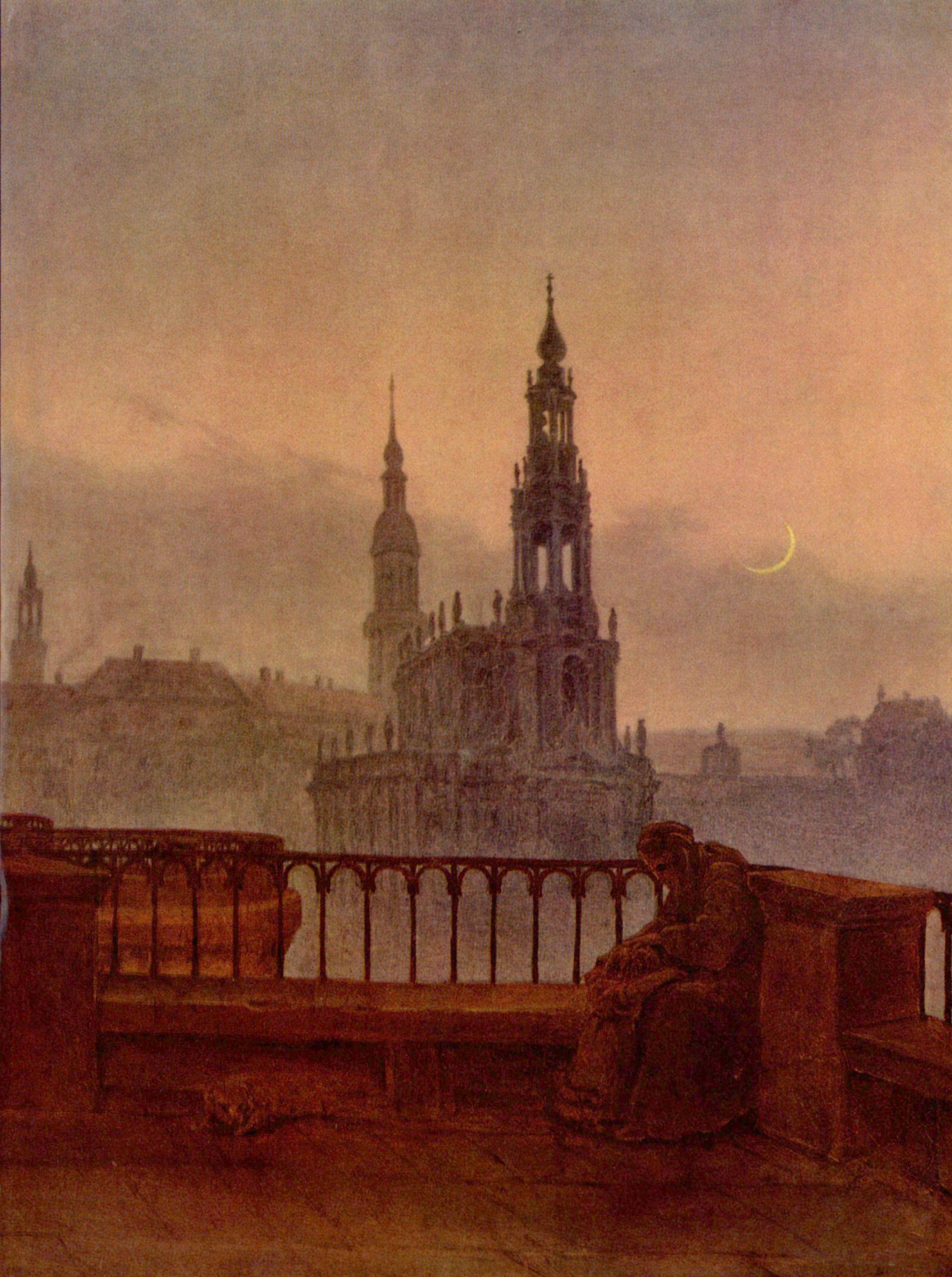 Carl Gustav Carus Blick auf Dresden von der Brühlschen Terrasse