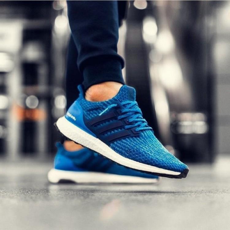 adidas Ultra Boost 30 Damen Herren billige Sneakers schuhe Core Blau BA8844 Core Blau Mystery Blau Ader Weiss Turnschuhe guenstig kaufen 2019