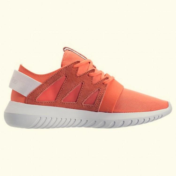 Frauen adidas Tubular Viral Freizeitschuhe BB2066 ORG Easy Orange Weiss Damen Herren billige Sneakers schuhe guenstig kaufen 2019