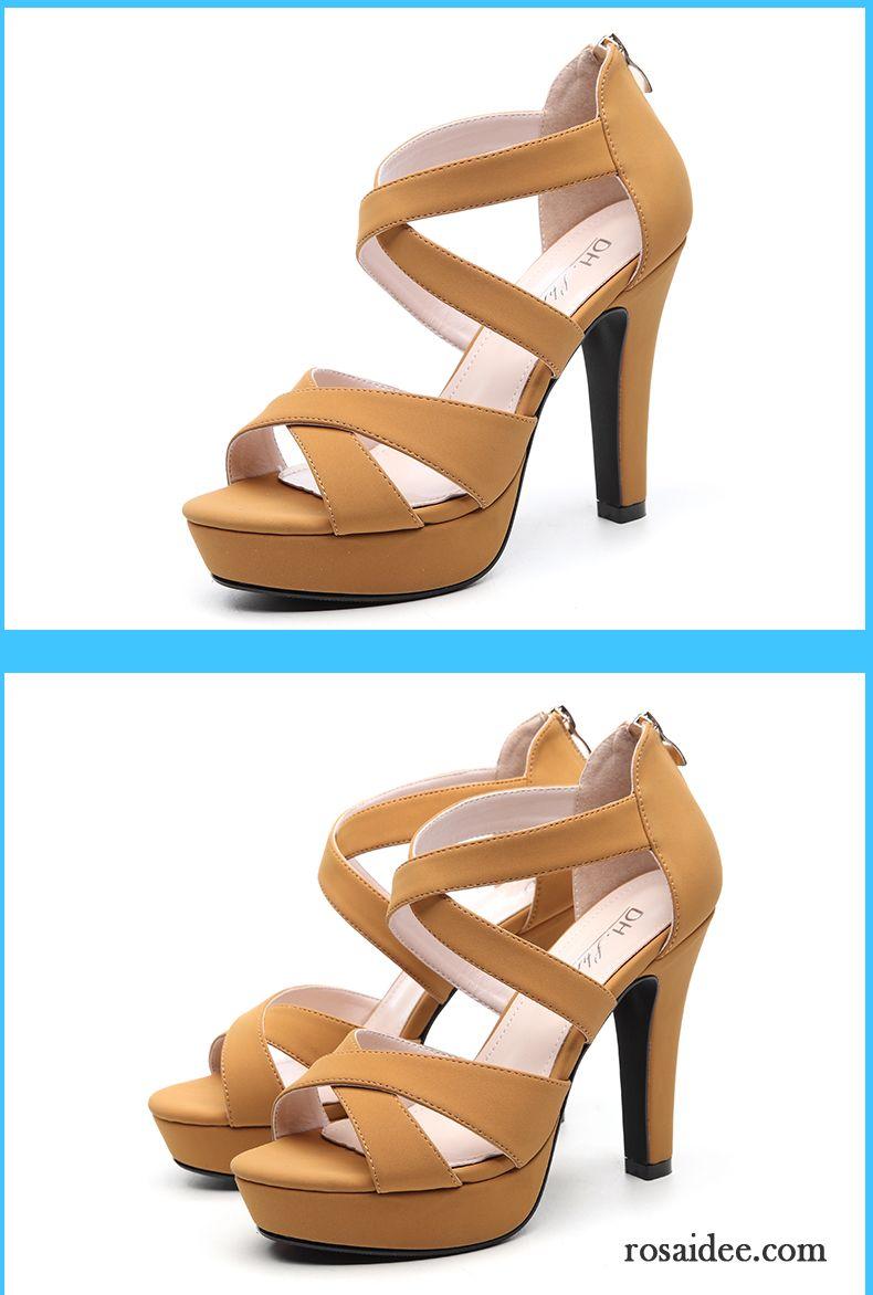 Billige Sandalen Damen Sommer y Wasserdichte Plattform Damen Neue Hohl Dünne Fersen Hochhackigen Sandalen Schuhe Rabatt v 3889