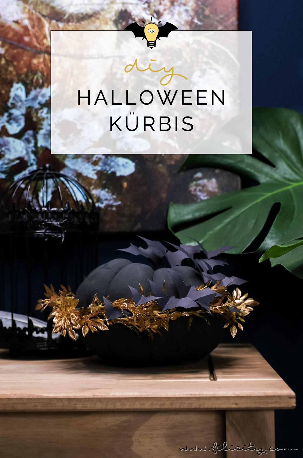 diy halloween deko kuerbis fledermaus selber machen grusel party dekoration basteln diy blog 12 min