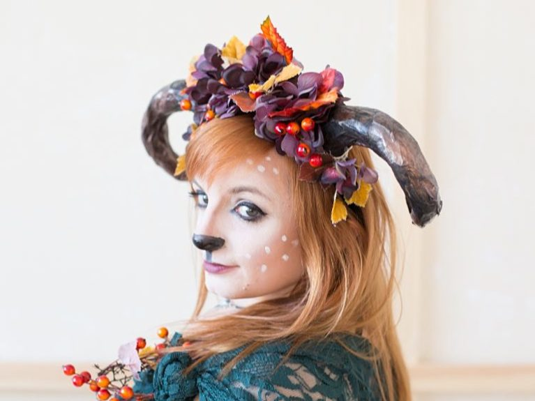 reh make up fuer halloween selber machen