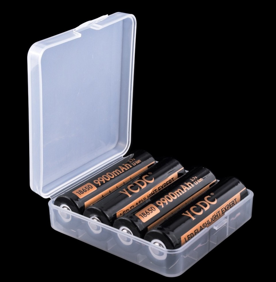 YCDC Durable font b Battery b font Storage font b Box b font Hard Case
