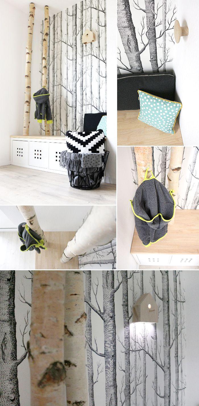 selbst gebaute neue garderobe mit birkenstammen bircher dani avec basteln mit birkenholz et 27 basteln mit birkenholz sur la cat gorie home deko ideen