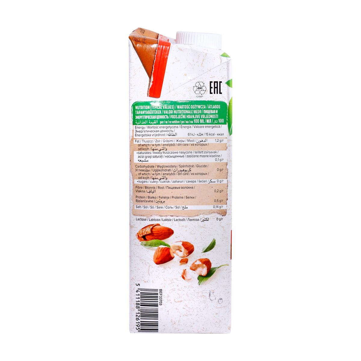 Alpro Organic Bio Almond Drink Unsweetened 1Litre 02