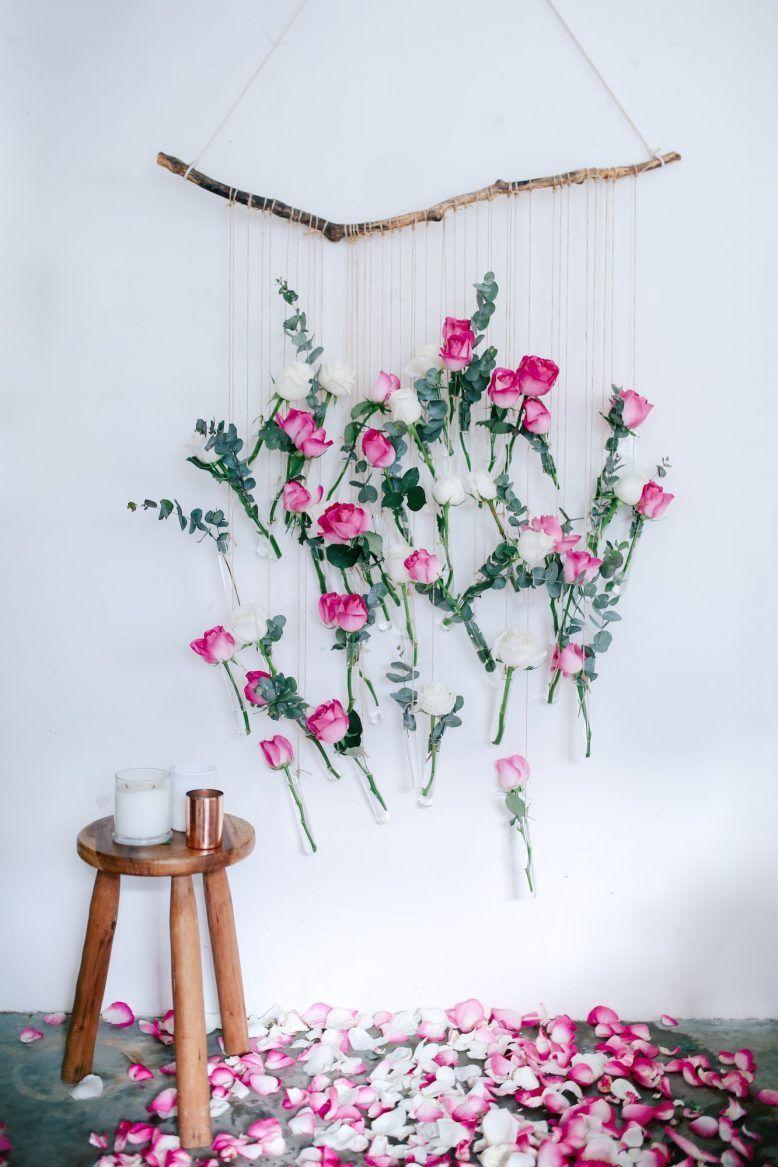 Blumen Wand Selber Bauen Schön Diy Floral Vase Wall Hanging Using Rose and Eucalyptus