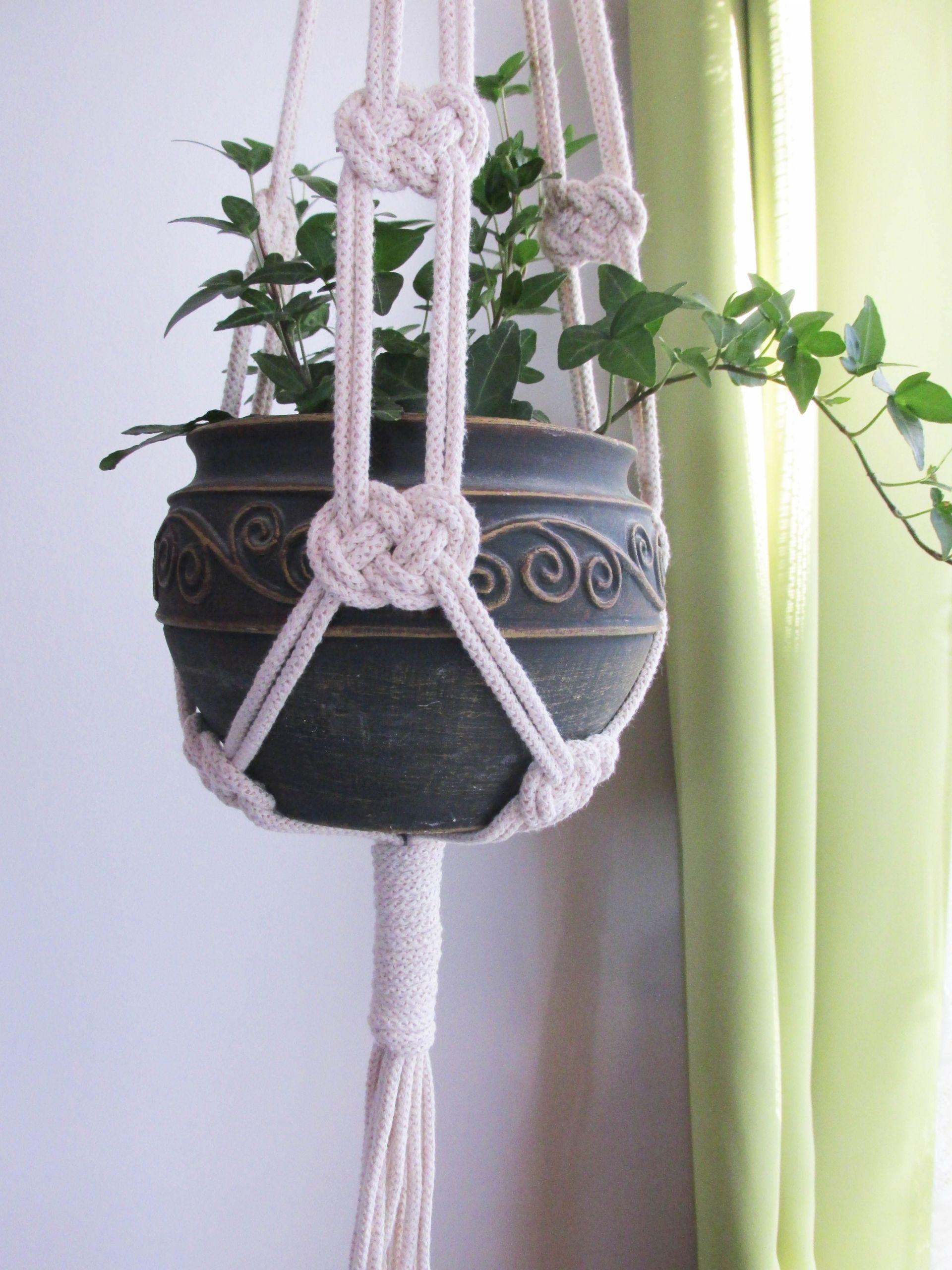 macrame gardens pinterest blumenampel selber machen blumenampel selber machen