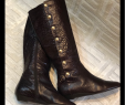 Boot Deko Elegant Migliorini Italian Leather Boots Crocodile Brown Euc