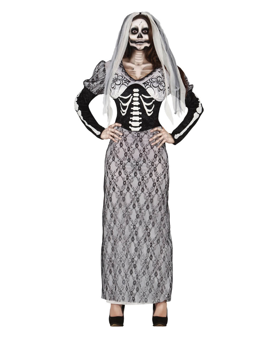 skelett braut kostuem