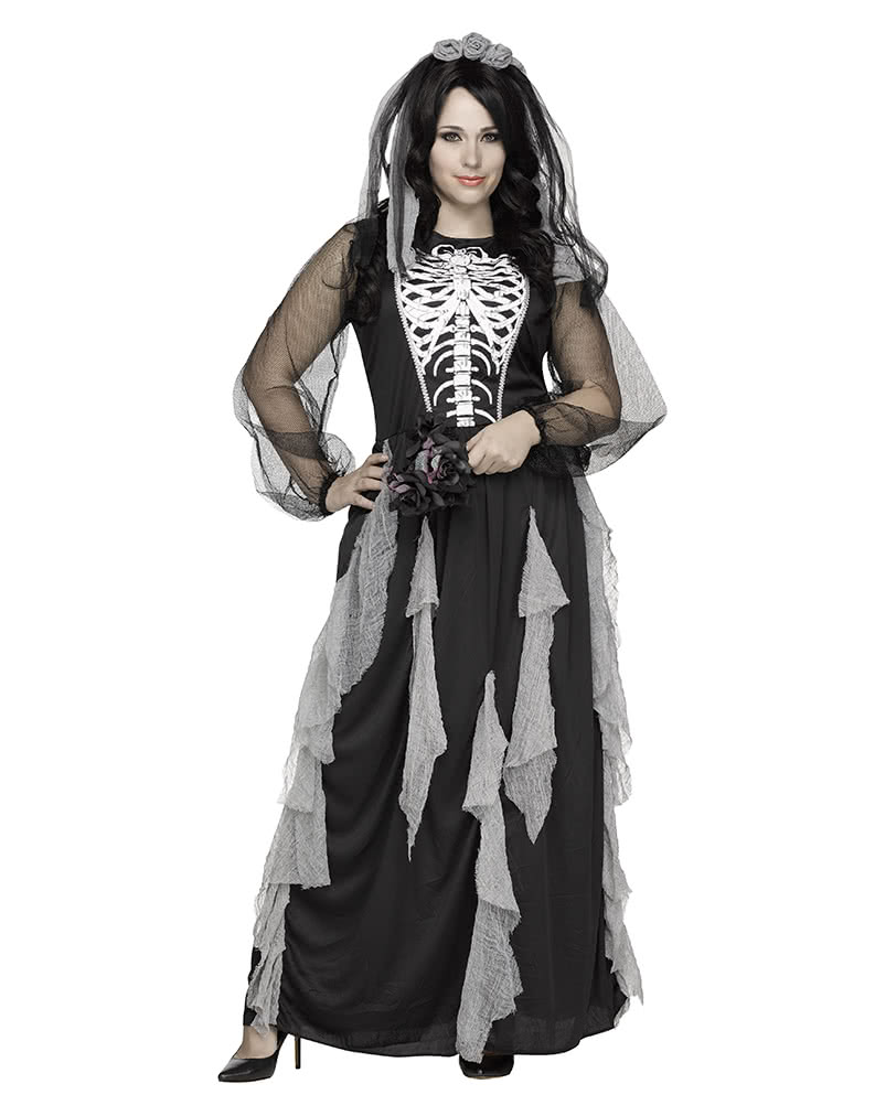 skelett braut damenkostuem plus size