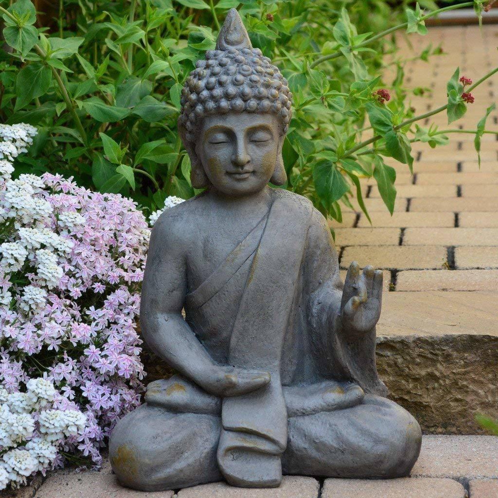 buddha deko wohnzimmer luxus stein buddha antik massiv steinfigur skulptur feng shui garten deko statue of buddha deko wohnzimmer