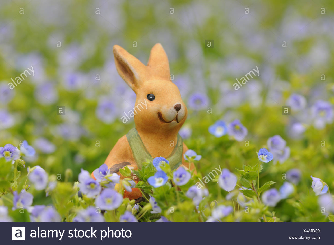 porcelain easter bunny meadow meadow flowers prize grass easter bunny hare porcelain easter spring feast character handicraft deko gartendeko tradition X4MB29