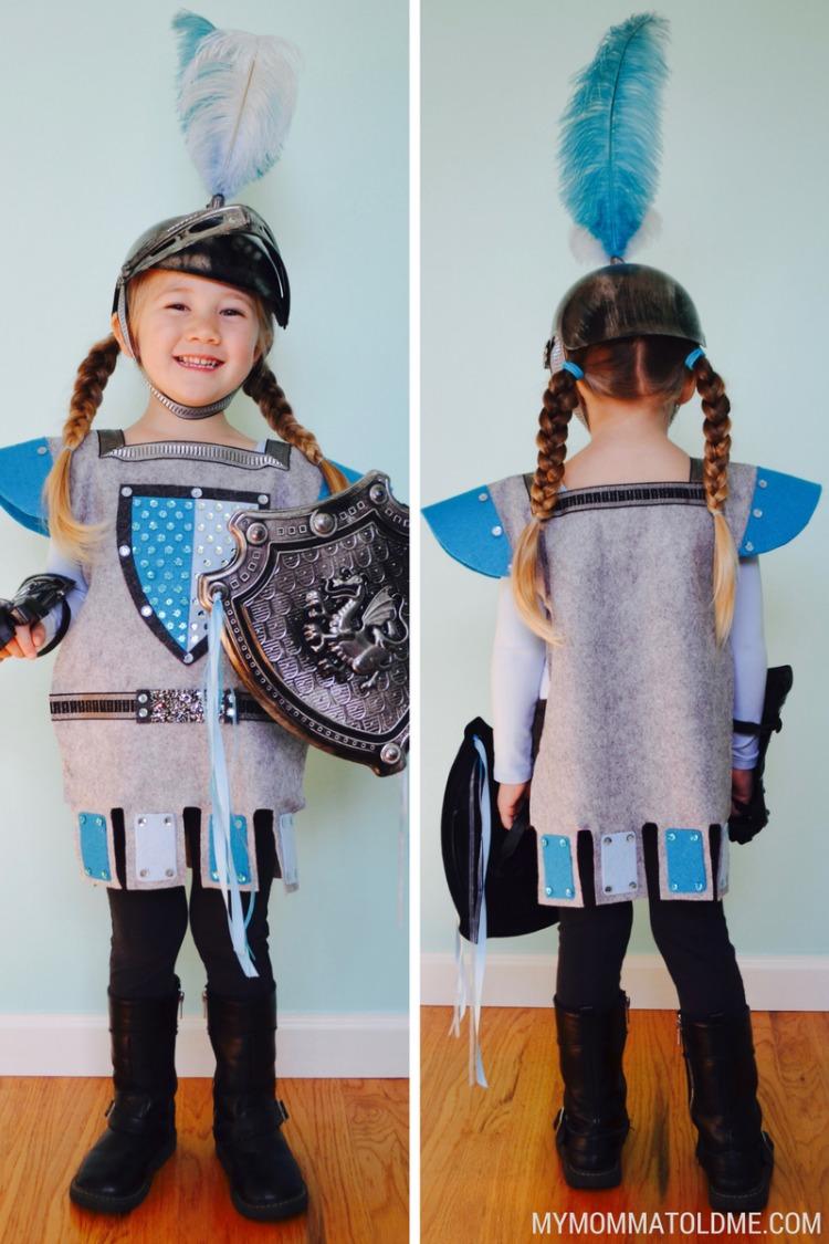 felt knight costume