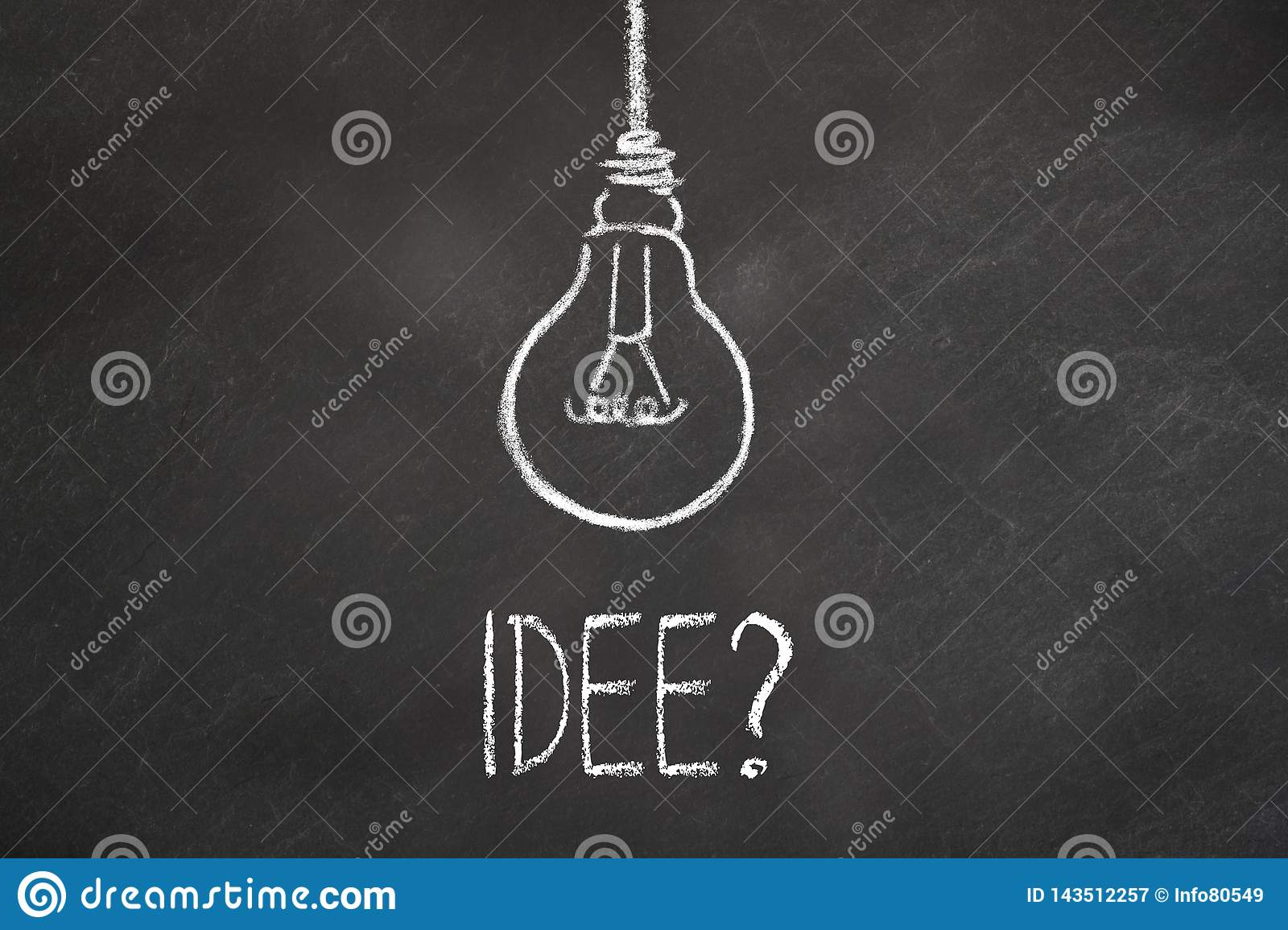 white chalk text idee hanging lightbulb chalkboard translation idea chalk text idee lightbulb chalkboard translation